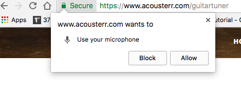 How to allow microphone Access for Acousterr